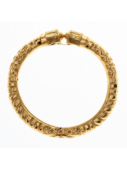 Traditional Ethnic Jewellery Designer 1.5g Gold Polished Thikck Bangle for Women (1 Piece)-LAAGP15BG013