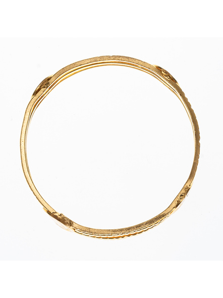 """Traditional Ethnic Jewellery Victorian Coin Studden 1.5g Gold polished Designer Bangle for Women (1 Piece)-Gold-Copper-Adult-Female-2.4""""-1"""