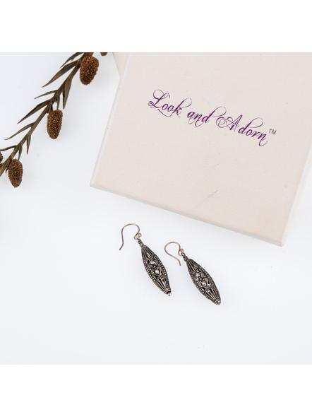Handcrafted German Silver designer Drop Dangler Earring-LAAER246