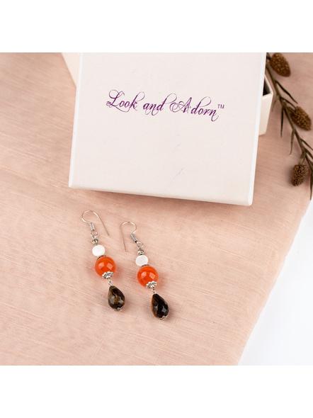 Handmade Pretty Tigers Eye Drop Earring-LAAER242