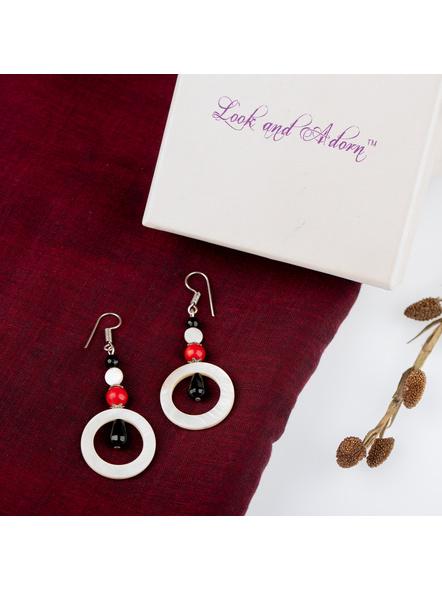 Handmade Semi Precious Ring of Moon Earring-LAAER236