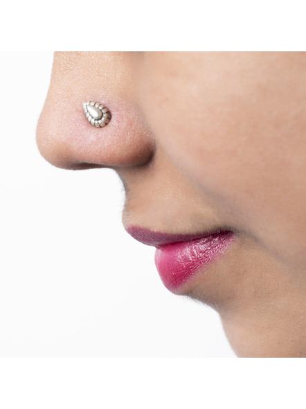 92.5 Pure Silver Drop Wire Nosepin-LAANP029