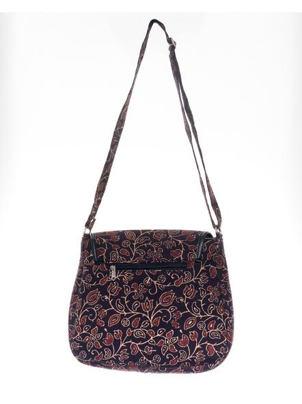 Handcrafted Rectungular Stylish Floral Ajrakh Sling Bag-1