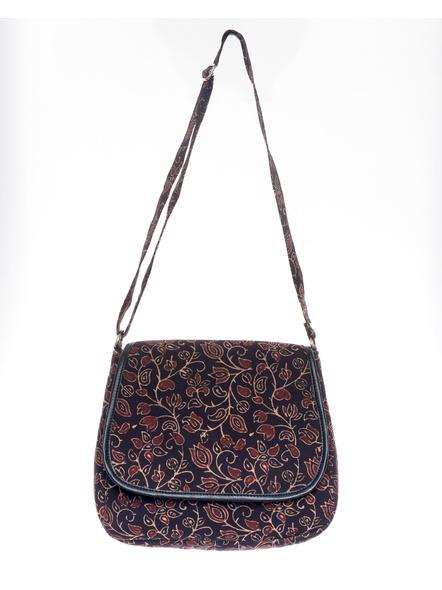 Handcrafted Rectungular Stylish Floral Ajrakh Sling Bag-LAARSSB001