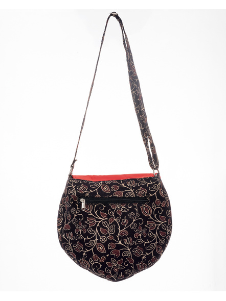 Handcrafted Stylish Half Circle Ajrakh Sling Bag-1