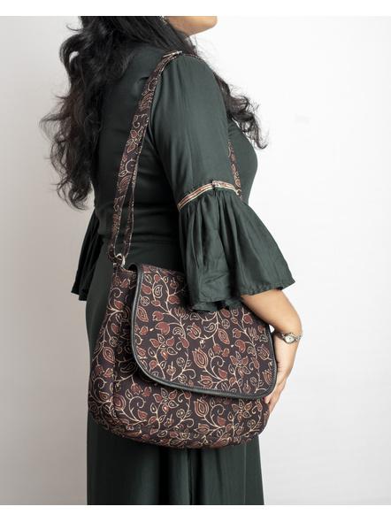 Handcrafted Rectungular Stylish Floral Ajrakh Sling Bag-2