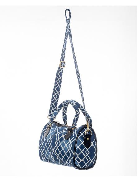 Handcrafted Indigo Sling /Duffle Bag-3
