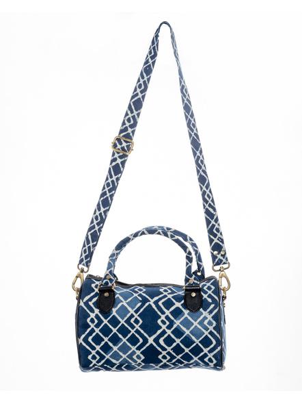 Handcrafted Indigo Sling /Duffle Bag-LAAHSDB001