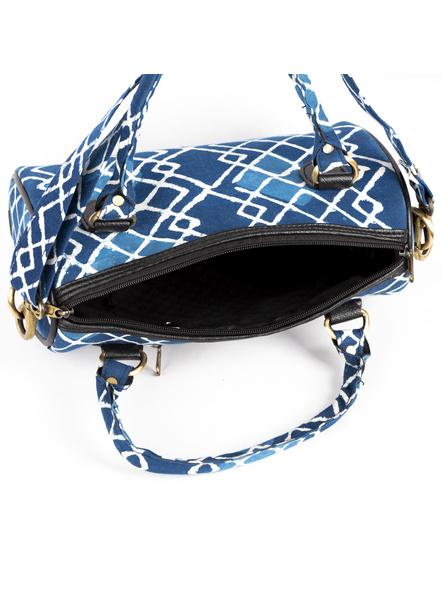 Handcrafted Indigo Sling /Duffle Bag-4