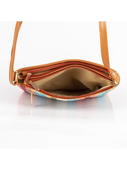 Handcrafted Multi Color Stripe Sling Bag-3