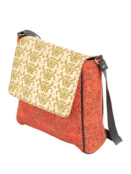 Handcrafted Rectungular Stylish Jumbo Ajrakh Sling Bag-2