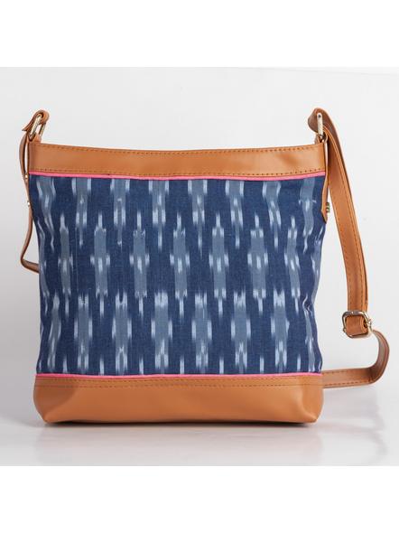 Handcrafted Square Ikkat Sling Bag-5