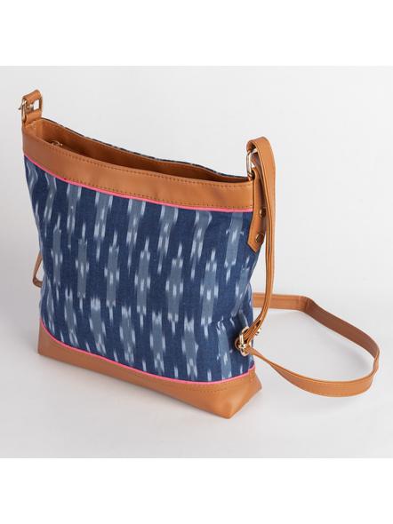 Handcrafted Square Ikkat Sling Bag-3