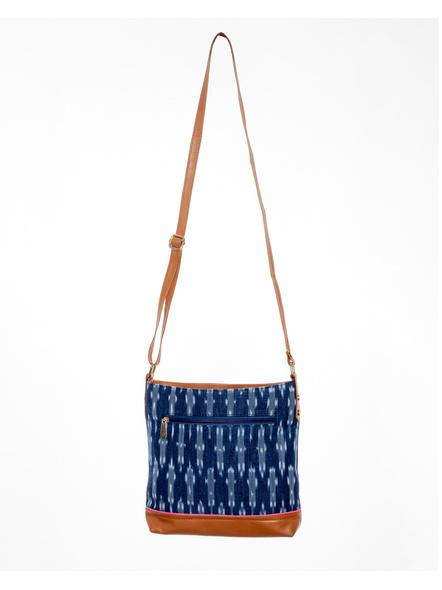Handcrafted Square Ikkat Sling Bag-2