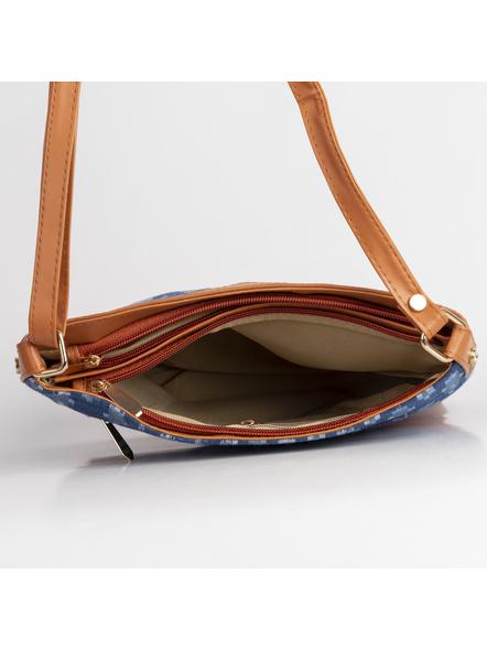 Handcrafted Square Ikkat Sling Bag-4
