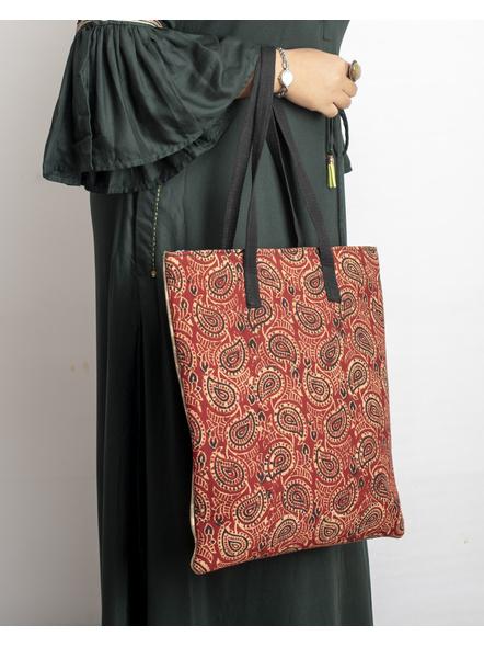 Handcrafted Stylish Dual Ajrakh Tote Bag-LAASTB002