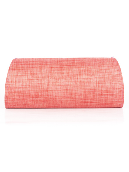 Handcrafted Peach Tussar Silk Indigo Clutch-2
