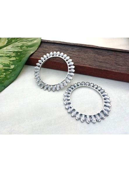 Designer German Silver Round Fish Bangle - Set of 2-LAANSBG002
