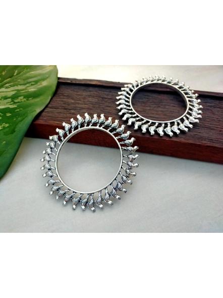 Designer German Silver Round Bird Bangle - Set of 2-1