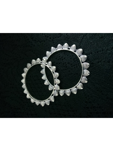Designer German Silver Fish Bangle - Set of 2-5