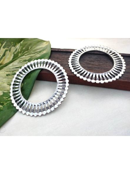 Designer German Silver Round Bangle - Set of 2-LAANSBG006
