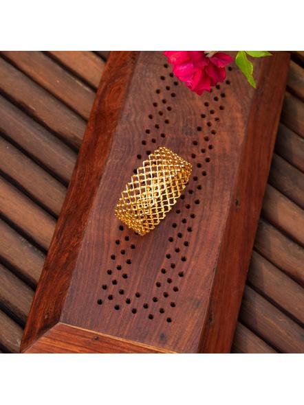 Gold plated Designer Jaali Bangle (1 Piece)-LAAGP15BG016