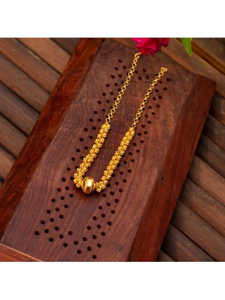 Gold plated Designer Focal bead Choker-Gold-Copper-Adult-Female-40CM-1