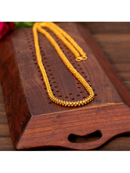 Gold Plated Designer Long thick necklace-LAAGP15NLS08