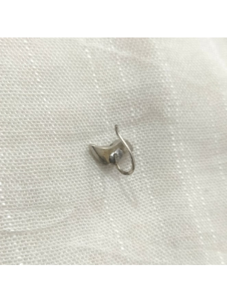 Designer Bird German Silver Clip-on Nosepin-1