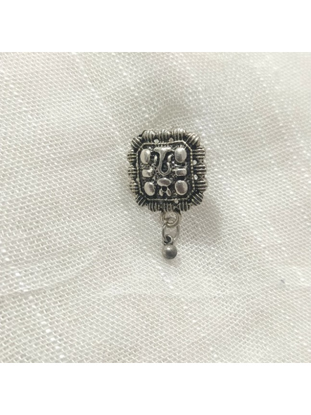 Designer Ganesh German Silver Clip-on Nosepin-LAAGSNP003