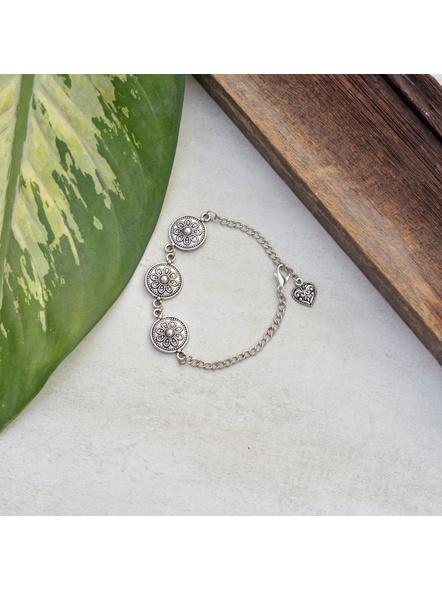 Designer Circular German Silver Floral bracelet-1