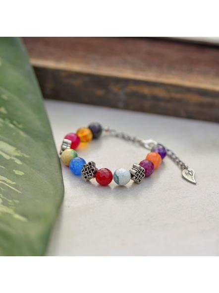 Designer semi precious Onyx stone bracelet-1