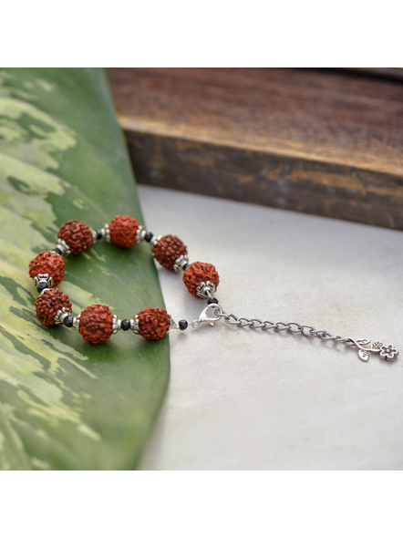 Faux Rudraksh Bracelet with Seed Bead-1