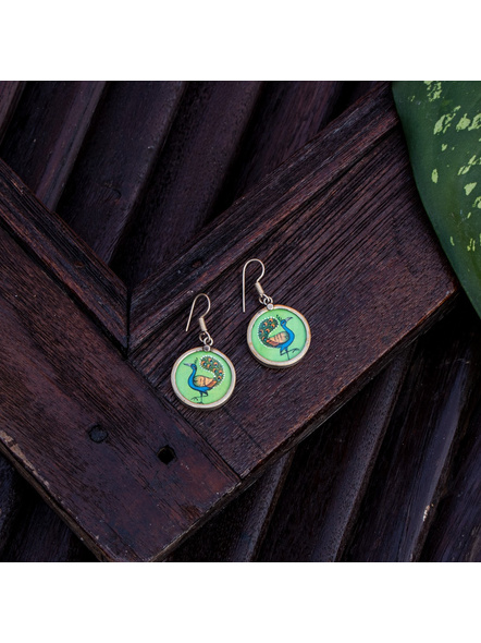 Look and Adorn Exclusive Designer Miniature Peacock Earring-LAAER357