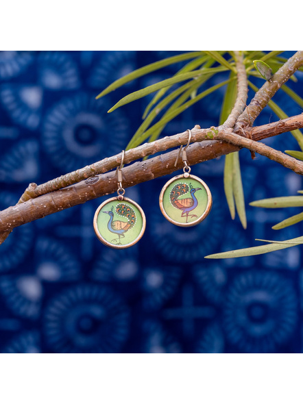 Look and Adorn Exclusive Designer Miniature Peacock Earring-1