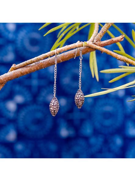 Designer German Silver Chain Dangler Earring-LAAER354