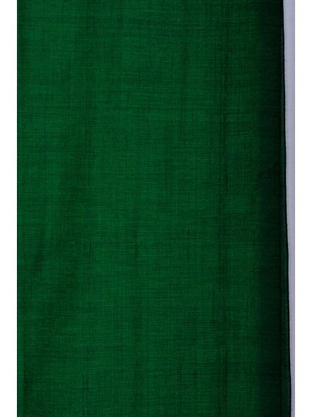 Mercerized Handloom Emerald Green Khadi Cotton Saree with Blouse Piece-2