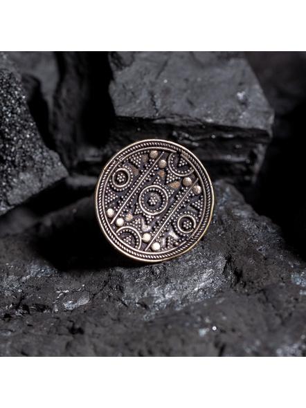 Circular German Silver Adjustable Finger ring-1