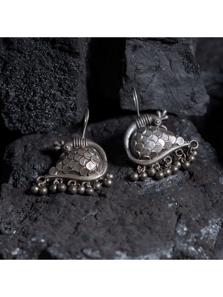 Designer Silver Replica Peacock Earring-LAAER364