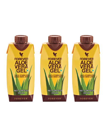 Forever Aloe Vera Gel - TRIPAK - 3 X 330 ML TETRA-GELTRIPAK