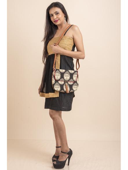 Designer Black Dress with Golden Lace & Net-32-Cotton Silk & Net-2