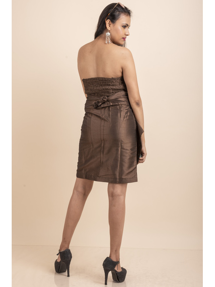 Off Shoulder Brown Dress-32-Cotton Silk-3