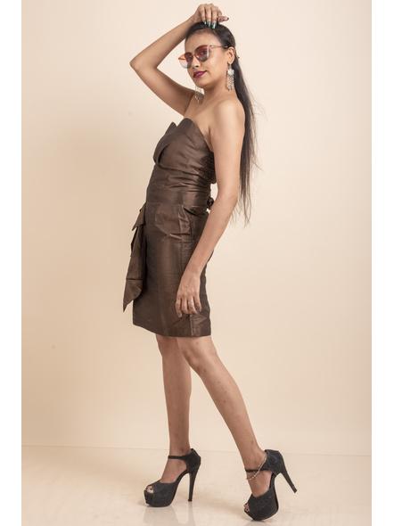 Off Shoulder Brown Dress-32-Cotton Silk-2