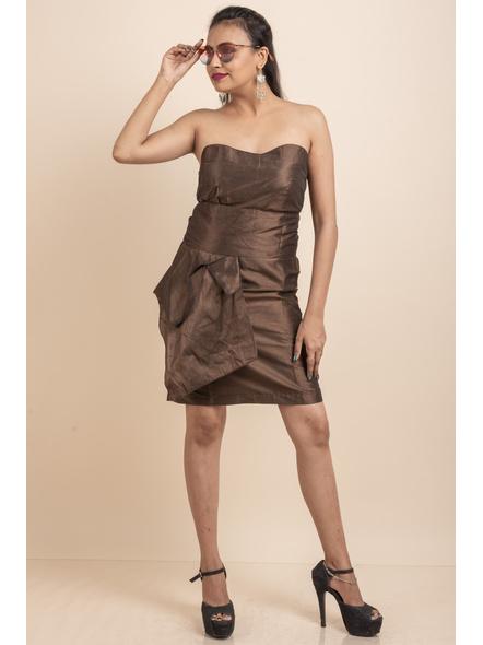 Off Shoulder Brown Dress-32-Cotton Silk-1
