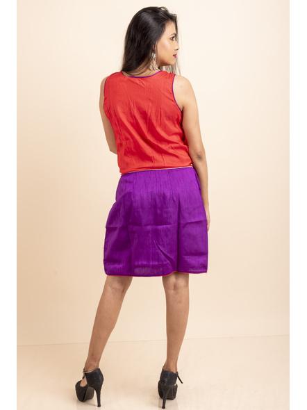 Purple-Red off-White Dress-32-Cotton Silk-2