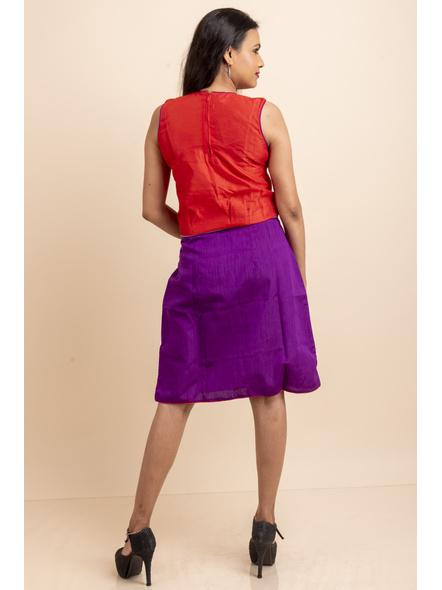 Purple-Red Grey Dress-32-Cotton Silk-2