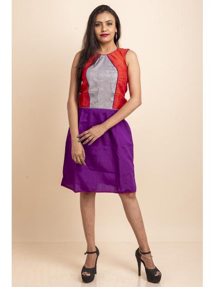 Purple-Red Grey Dress-LAASGD12