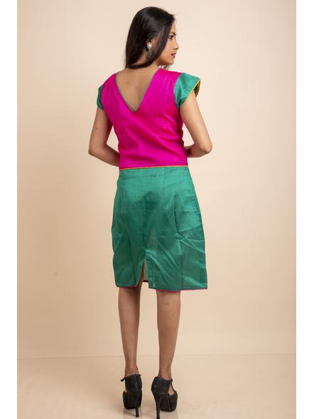 Pink Yellow Green Dress-32-Cotton Silk-2