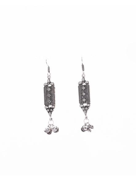 Designer German Silver Long Dangler with Ghungroo-Silver-German Silver-Adult-Female-8.5cm-1