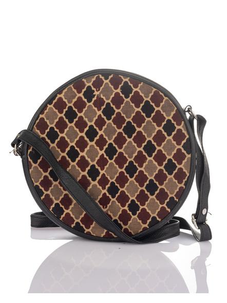 Handcrafted Stylish Circular Ajrakh Sling Bag-3